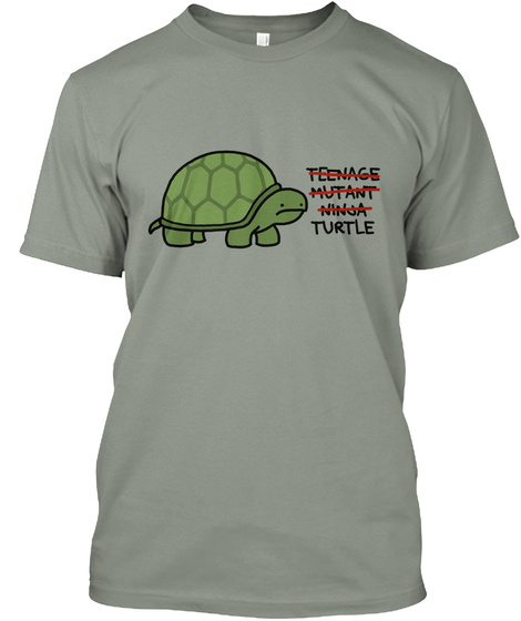 Teenage Mutant Ninja Turtle Grey T-Shirt Front
