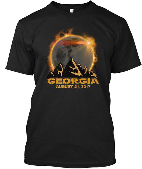 Georgia August 21,2017 Black T-Shirt Front