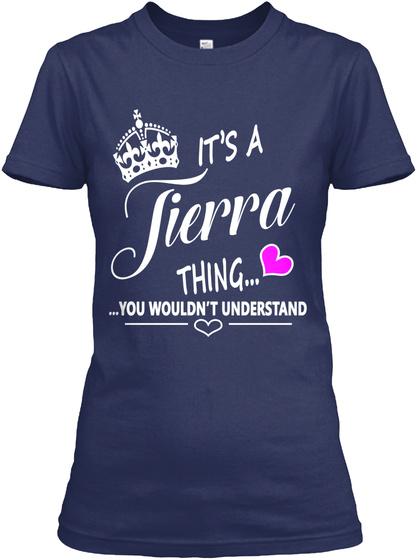 Tierra Navy Women's T-Shirt Front