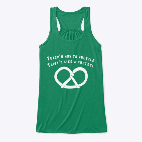 Wrestling Cheer  Pretzel Kelly Women's Tank Top Front