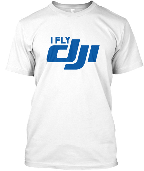 I Fly White T-Shirt Front