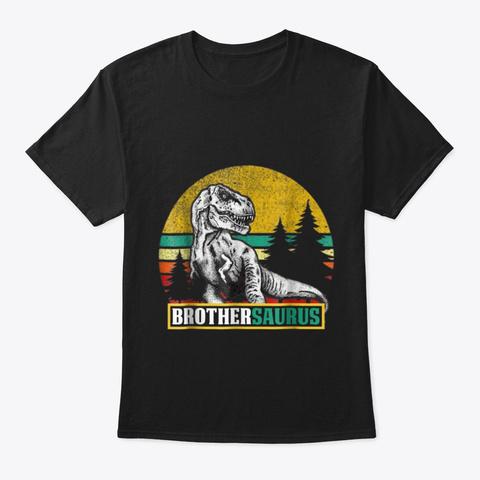 Brothersaurus T Shirt T Rex Brother Black T-Shirt Front