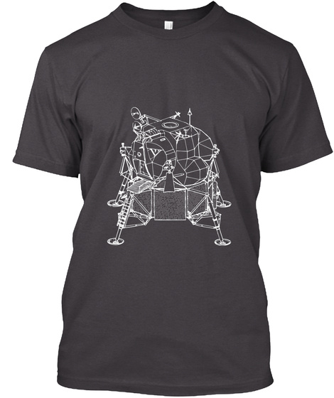 Apollo Lunar Module   Space Program Heathered Charcoal  T-Shirt Front