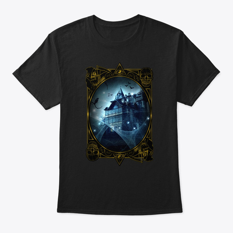 The Haunted House Black T-Shirt Front