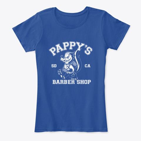 Pappy's Skunk Design Deep Royal  T-Shirt Front
