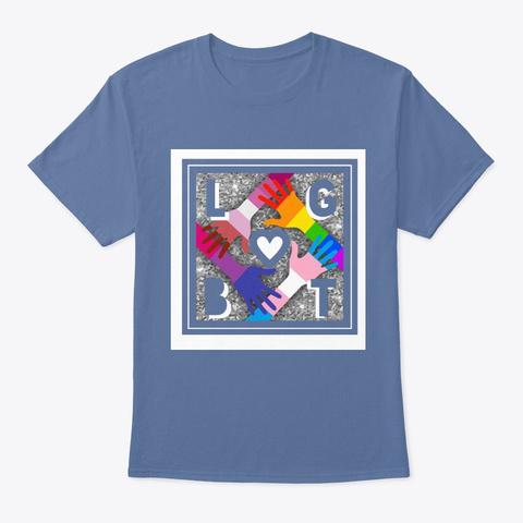 Best Lovers Shirt Denim Blue T-Shirt Front