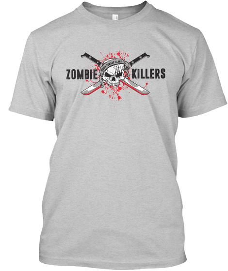 Zombie Killers Light Steel T-Shirt Front