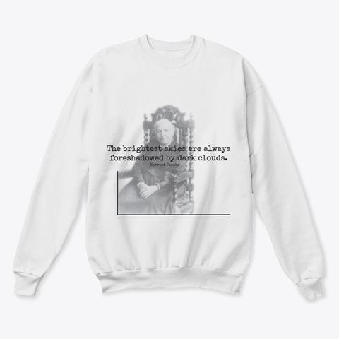 Bright Skies | Dark Clouds White  T-Shirt Front