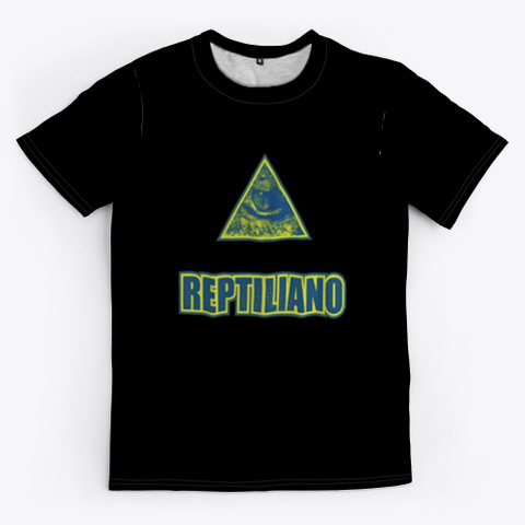 Reptiliano Black T-Shirt Front