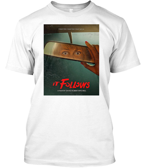 It Follows Fade Horror Movie White T-Shirt Front
