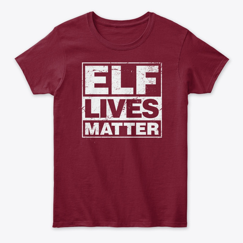 Elf Lives Matter Funny Christmas Cardinal Red T-Shirt Front