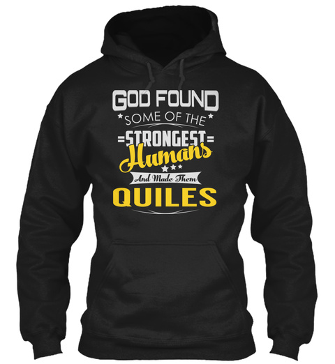 Quiles   Strongest Humans Black T-Shirt Front