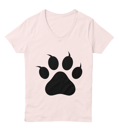 Paws For A Cause Pale Pink  T-Shirt Front