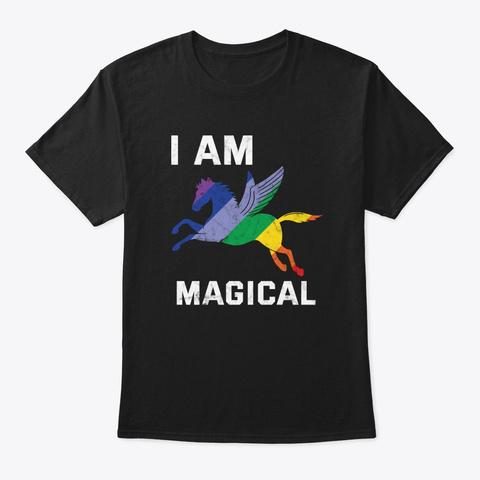 I Am Magical Unicorn Gay Pride Parade Re Black T-Shirt Front