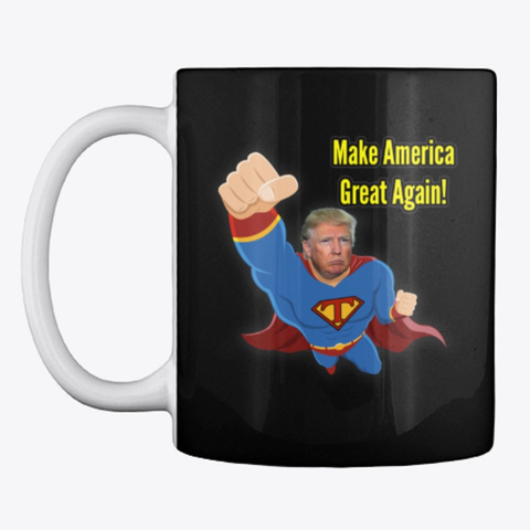 Donald Trump Make Spain Great Again! Black Taza Front