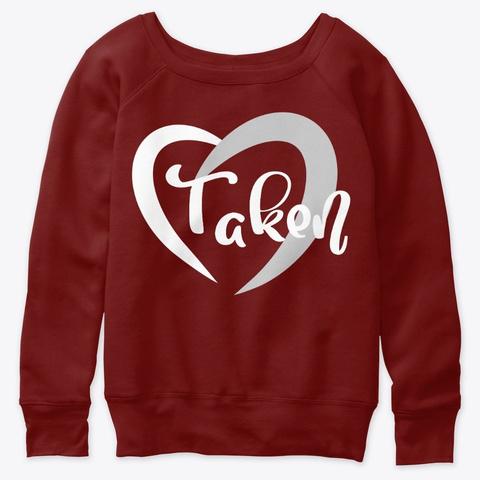 Heart Taken Dark Red Triblend T-Shirt Front