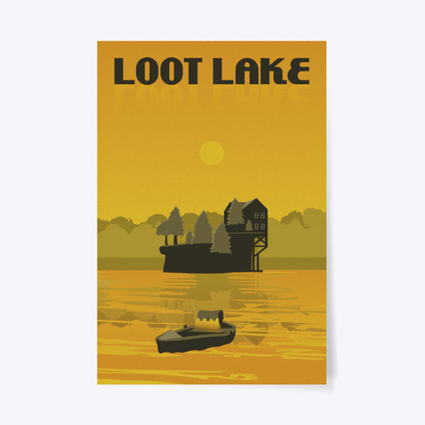 dde64c5e796f7 Loot Lake Poster Products from F:BR Vintage Travel Posters | Teespring