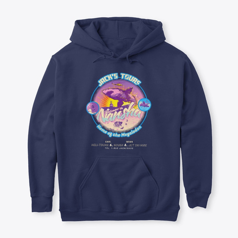 Jack's Tours Hoodie Navy T-Shirt Front