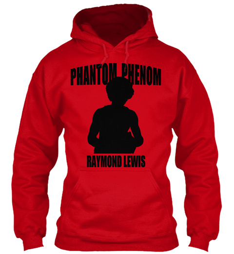 Phantom Phenom Hoodie Red T-Shirt Front