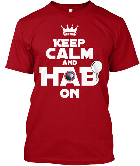 K Eep Calm And Hab On Deep Red Camiseta Front