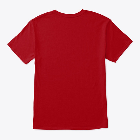 Couch Poetato's Deep Red T-Shirt Back