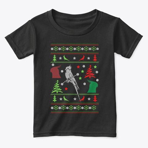 Christmas Sweater Cockatiel T Shirt 2020 Black T-Shirt Front