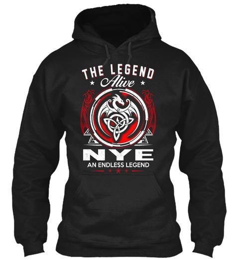 Nye   Alive And Endless Legend Black T-Shirt Front