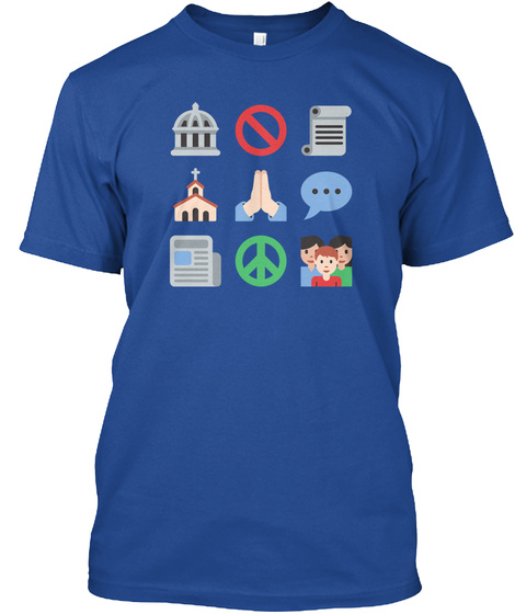 First Emojiment, By Techdirt Deep Royal T-Shirt Front