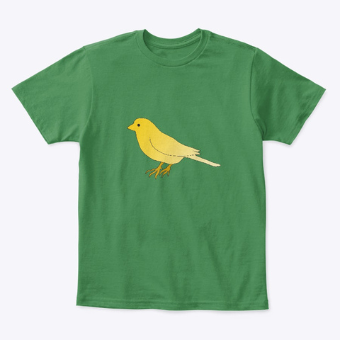 Canary In A Coal Mine Kelly Green  T-Shirt Front