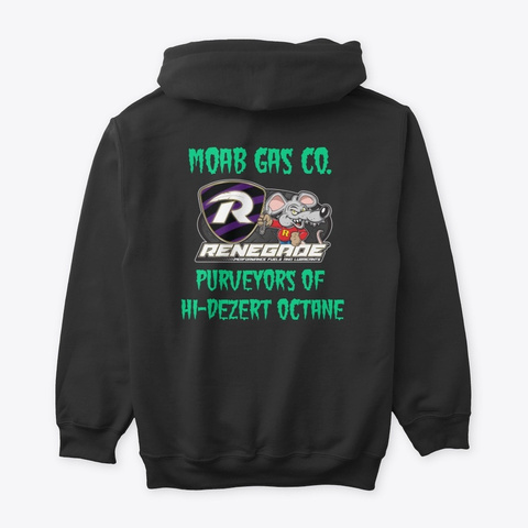 Moab Gas Co  Black T-Shirt Back