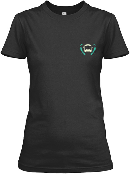 Awesome Bus Driver Shirt Black T-Shirt Front