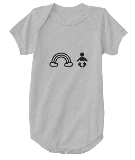 Rainbow Baby   Onesie Heather  T-Shirt Front