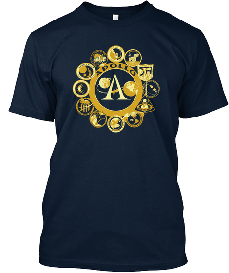 Apollo A  New Navy T-Shirt Front