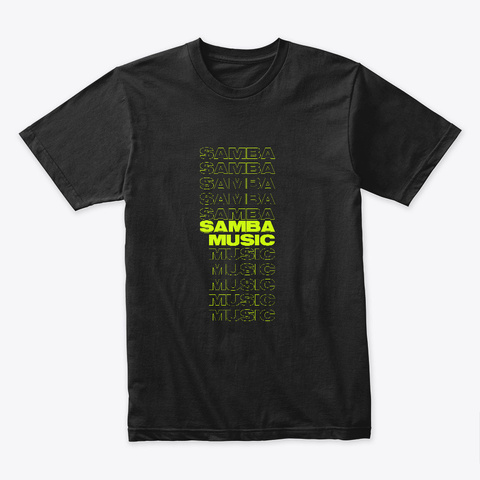 Samba Music Black T-Shirt Front