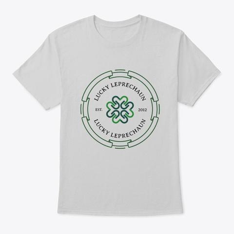 Lucky Leprechaun Classic Pub T Shirt Light Steel T-Shirt Front