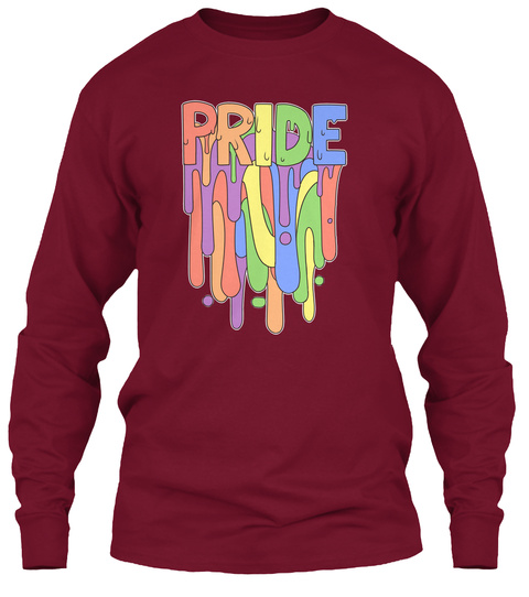 Celebrate Yourself! Lgbt Prom Fundraiser Cardinal Red Long Sleeve T-Shirt Front