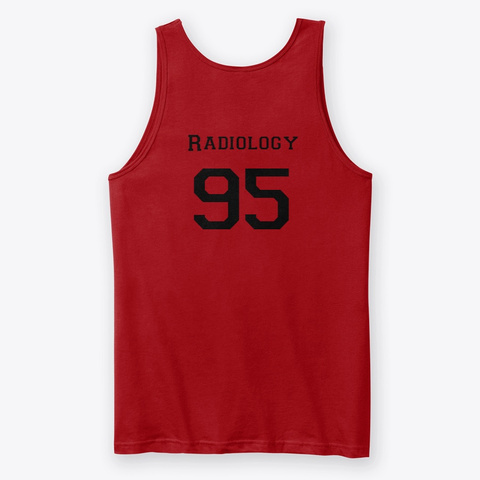 Radiology 95 Red T-Shirt Back