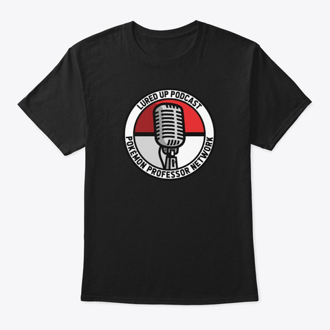Lured Up Podcast Classic Logo Black T-Shirt Front