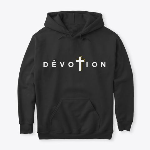 Logo Dévotion Original Blanc  Black T-Shirt Front