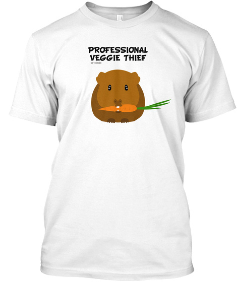 Professional Veggie Thief White T-Shirt Front