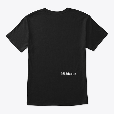 Autism Strong Black T-Shirt Back