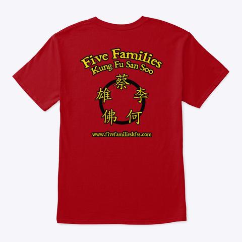 Master T Shirt Deep Red T-Shirt Back