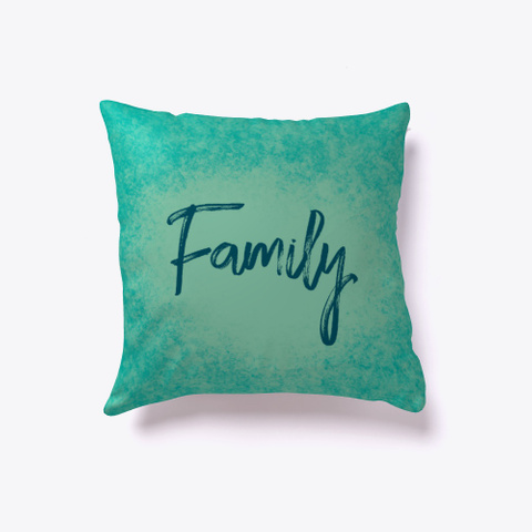 Family In Teal Watercolor Standard T-Shirt Front