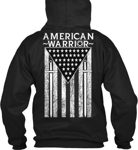 American ~Warrior~ Black T-Shirt Back