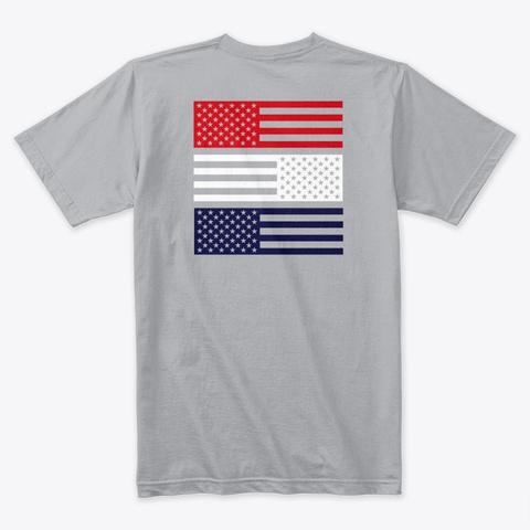 Rwb Simple Heather Grey T-Shirt Back