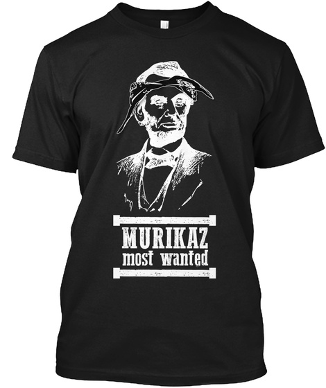 Murikaz Most Wanted Lincoln X Shakur Black T-Shirt Front