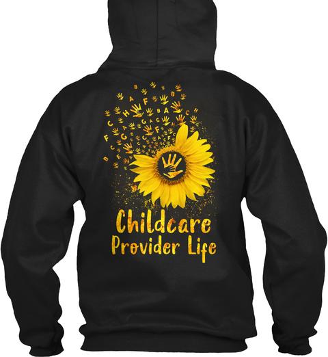 Childcare Provider Life Black T-Shirt Back