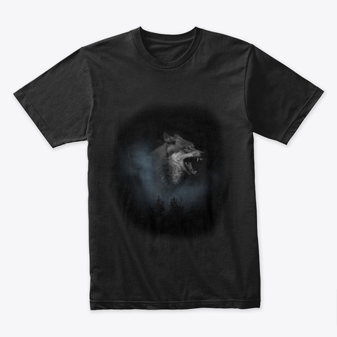 Night Wolf Black T-Shirt Front