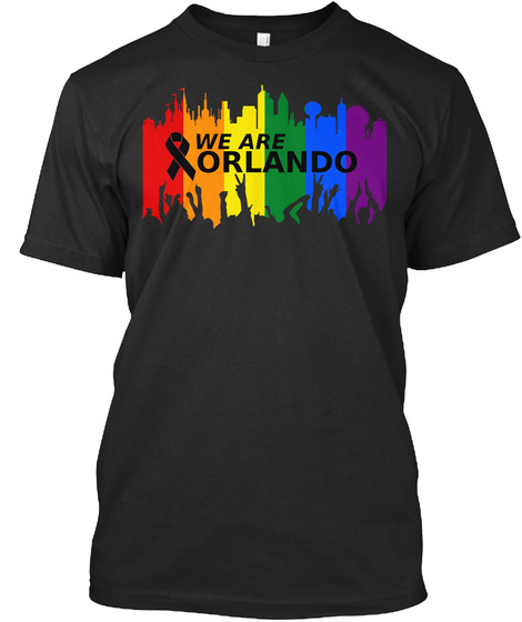 We Are Orlando Black T-Shirt Front