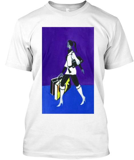 Shopaholic White T-Shirt Front